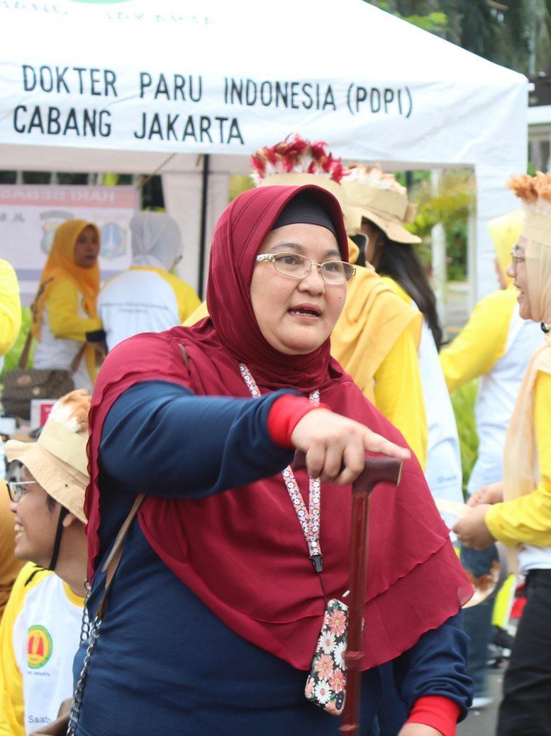 Dr. Erlina memberikan pengarahan pada Hari TB Sedunia di Jakarta, 24 Maret 2019
